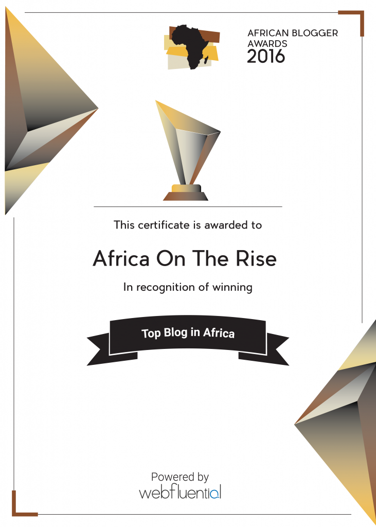 Africa-OnTheRise Wins African Blogger Awards for Top Blog about Africa