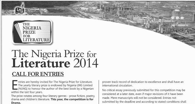 Poetry prizes in nigerian