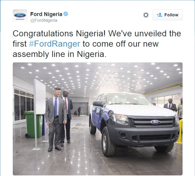 FordNigeria unveils first car