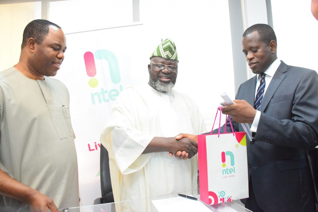 Barrister Adebayo Shittu, Honourable Minister of Communications at ntel's Marina Office in Lagos