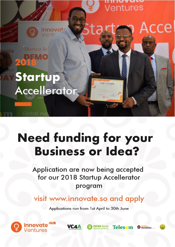 Applications open for the third cycle of Innovate Ventures Accelerator in Somaliland